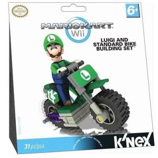 LUIGI & STANDARD BIKE BUILDING SET   KNEX Nintendo Wii Mario Kart Like
