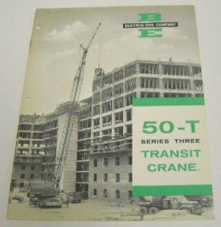 Bucyrus Erie 1963 50T Series 3 Transit Crane Brochure