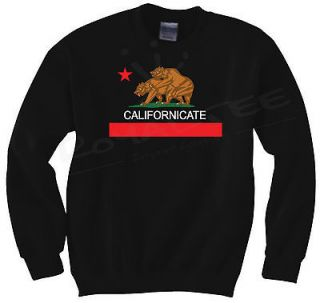 Crewneck Sweater Cali HUF California Republic HBO David Duchovny