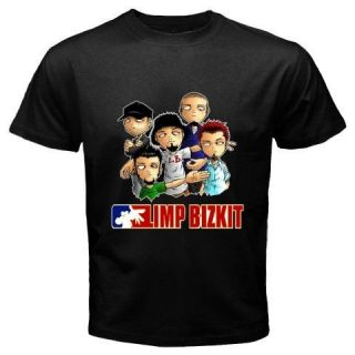 LIMP BIZKIT Personels Cartoon Alternative Rock Band Black T Shirt