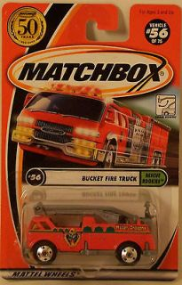 NEW NIB Matchbox Bucket Fire Truck Engine Rescue Rookeies 56/75 Water