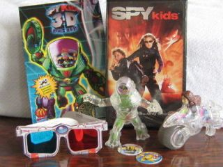 Spy Kids 3D Comics with Glasses + McDonald Toys + VHS
