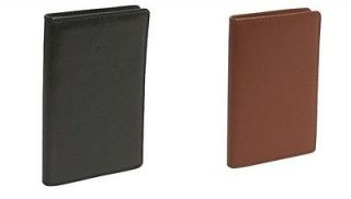 Budd Leather Mens Cowhide Leather Credit Card Holder/Card Case