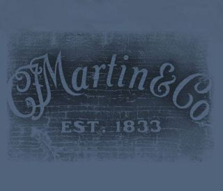 Martin & Company Guitars Rectangle Logo Indigo Adult T shirt