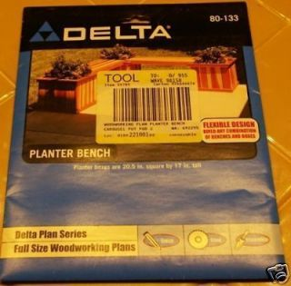 New in Package DELTA Planter Bench Woodworking Plan