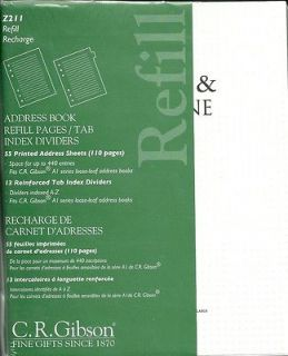 Newly listed C.R.GIBSON A1 SERIES ADDRESS BOOK REFILL PAGES & TAB