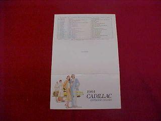 1984 CADILLAC ELDORADO DEVILLE FLEETWOOD COLOR PAINT CHIPS CHART