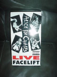 ALICE IN CHAINS LIVE , FACE LIFT , VHS TAPE