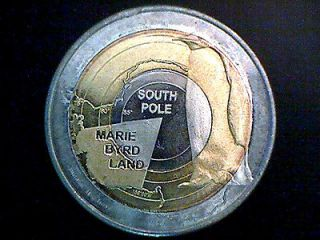 MARIE BYRD LAND 2011 10$ TRIMETAL COIN POPE JOHN PAUL II