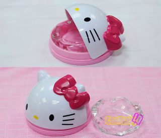 New Cute Cat Kitty Cigarette Table House Ashtray w / Rotatable Lid