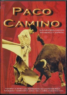 Paco Camino DVD NEW Sus Mejores Faenas En Mexico Y Espana Factory