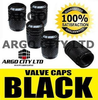 BLACK CHROME VALVE DUST TYRE WHEEL CAR BIKE CAPS HYUNDAI PONY