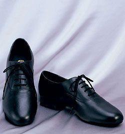 Capezio Boys Ballroom Dance Shoes BR02C Blk Leather NIB