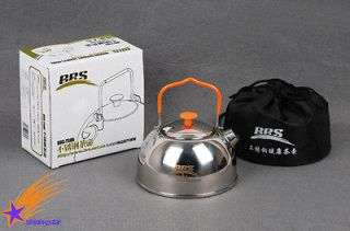 Outdoor Hiking Camping Kitchen Cookware Mini Stainless steel kettle 0