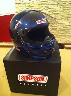 New Simpson motorcycle helmet Avenger metalic blue L large