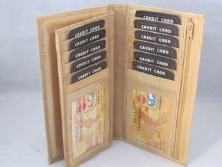 CHECKBOOK CREDIT CARD HOLDER TAN NEW WITH PULL OUT CHECKBOOK FREE