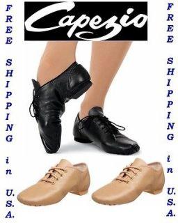 Capezio Jazz Dance Shoes Split Sole Oxford Leather EJ1 E Series Brand