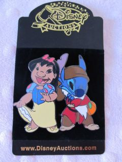 Lilo & Stitch Wear Snow White Costumes Jumbo LE Pin on Card