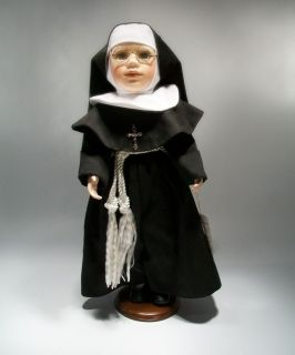 Geppeddo Porcelain Catholic Nun Doll Large 18 Sister Catherine