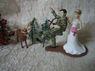 camo wedding cake toppers
