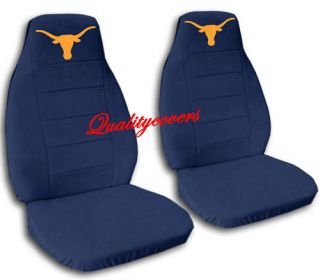 SET TEXAS LONGHORN CAR SEAT COVERS 4COLORS CHOOSE