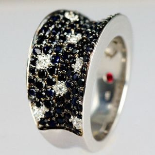 Roberto Coin 18ct Gold Fantasia Black Sapphire & Diamond Ring 2009