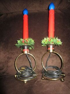 unusual Christmas Candle lights displays battery operated and