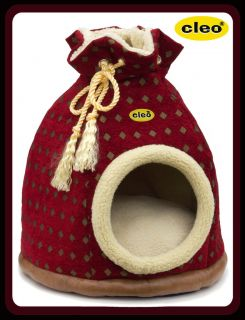 Large Cleo Duffle Bag cat bed / Small dog igloo   2ft tall   Diamond