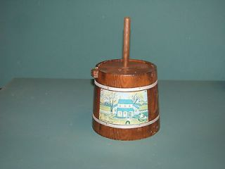 Adorable Miniature Butter Churn Replica Wooden House Decor