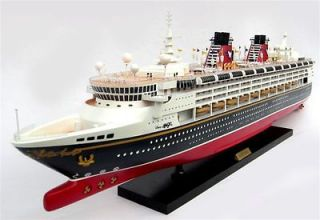 Disney Magic Cruise Ship 40   Handmade Wooden Model Ship NEW