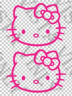 Hello Kitty Character logo 5(13cm) vinyl decal sticker car window JDM