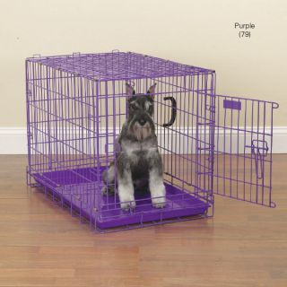 ProSelect Fold Down Dog Crates Heavy Duty Fashion Colors Puppy Crate