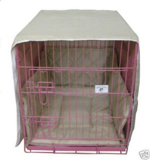 30 Khaki Casual Pet Bed Crate Cover Bumper Cratewear