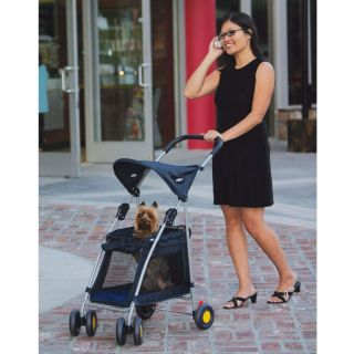 Walk N Roll Top Flap Pet Stroller   Folding Dog cat carrier to 20 LBs