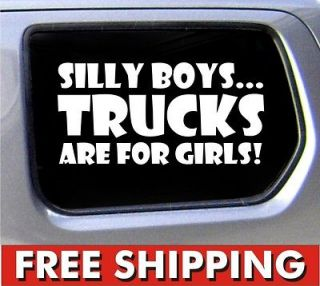 trucks are for girls funny car vinyl sticker decal window 4x4 jeep