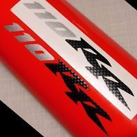 Pocket Bike Stickers 110RR Carbon Fiber Silver 110cc x7