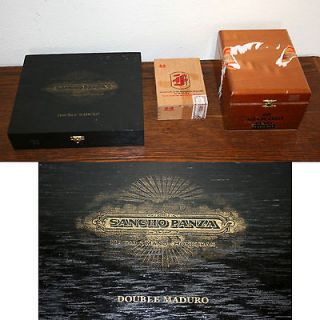Wood Cigar Boxes. Small, Med & Large, Black, Brown & Wood Colored, 2
