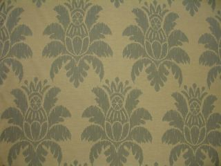 Woven Tone on Tone Large Ikat Medallion Floral Icy Blue Upholstery