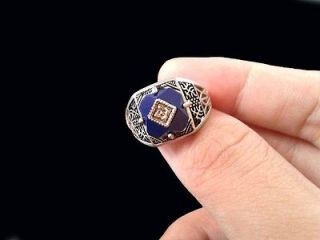 THE VAMPIRE DIARIES Season 1 2 3 Carolines Lapis Vintage Ring Size 7