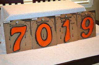 Ceramic tile Hand Crafted House Numbers 8 made in South Africa