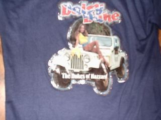 Vintage Daisy Duke Dukes of Hazzard Shirt Jeep Dixie RARE Cute shiny