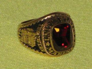 Jostens US Marine Corps Graduation Ring Sz 10