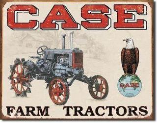 Case Farm Tractor CC High Barn Shop Retro Tin Sign