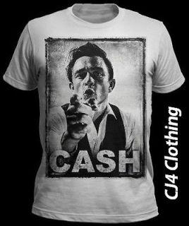 New Mens Johnny Cash T Shirt Vintage S M L XL Hurt Swag Obey Dope CD