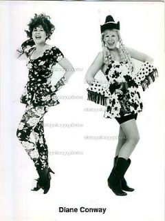 1993 Diane Conway Comic Star Actress Boots Cow Print Dress Hat Press