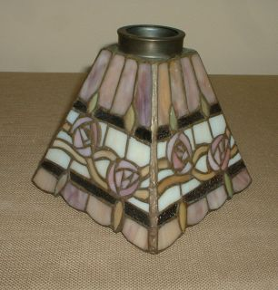 color Pink Tones Square Flare Tapered Ceiling Fan Lampshade Lamp Shade