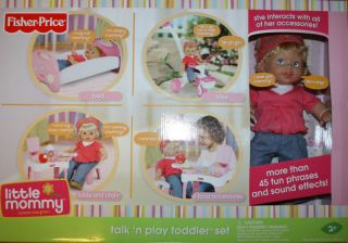 Price Little Mommy Talk n Play Toddler Set Bed Table Chair Trike NIB