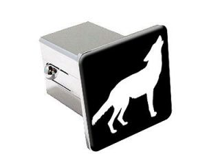 Wolf Howling   Chrome Tow Trailer Hitch Cover Plug