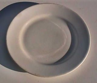 VINTAGE GREENWOOD CHINA CO. WHITE PORCELAIN 9 PLATE
