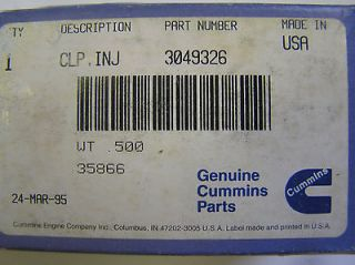 CUMMINS   INJECTOR HOLD DOWN CLAMP   3049326   (STC) N 14 OR BIG CAM